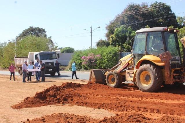 Senador  Canedo: Praça do Bairro Alvorada começa a ser construída