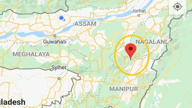 an earthquake today in nagaland assam, North of Shangkhumai Village