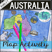 Image of Australia with colored pens