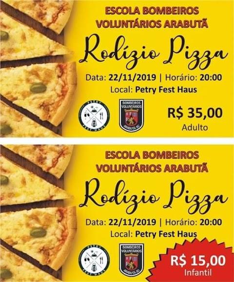 O Corpo de Bombeiros Voluntários de Arabutã vem convidar toda a comunidade para o Rodízio de Pizzas