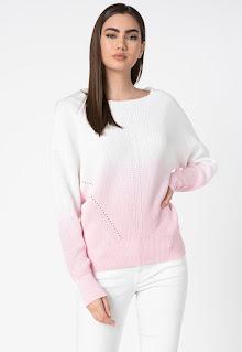 Дамски фин Пуловер с паднали ръкави - Guess Jeans