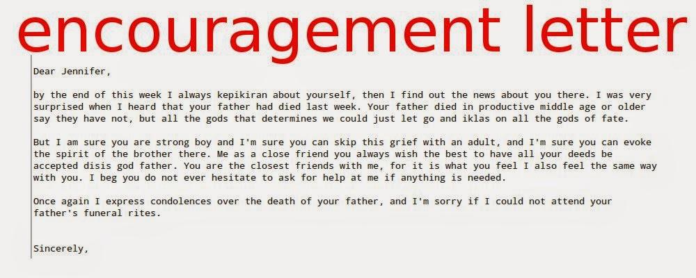 encouragement letters to a friend - Ozilalmanoof - encouragement letter template