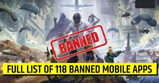 PUBG Banned in India | LIST Of 118 Apps Banned In India