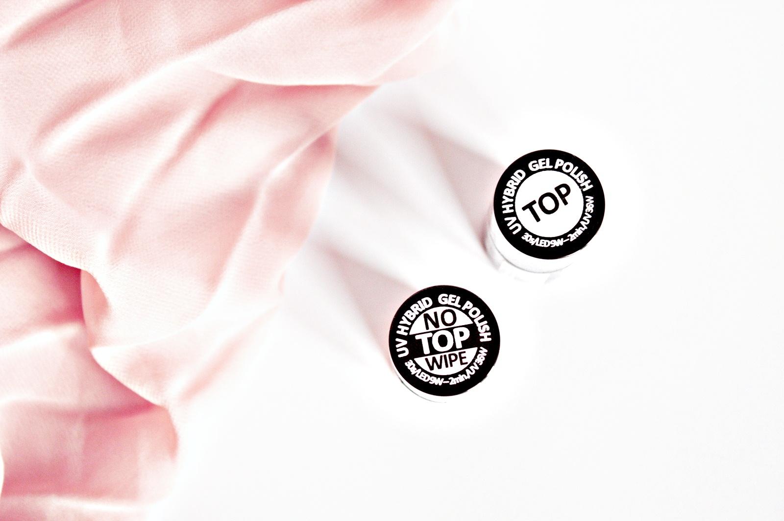 Semilac TOP NO WIPE kontra zwykły TOP - który wybrać? {manicure hybrydowy}