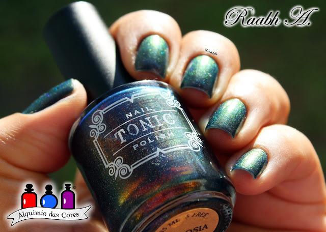 Raabh A. 2019, Tonic Polish, Tonic Polish Ambrosia, SB 047, unhas carimbadas, roxo, Esmalte Holográfico, roxo, Esmalte Multichrome, Esmalte Artesanal, Esmalte Indie,