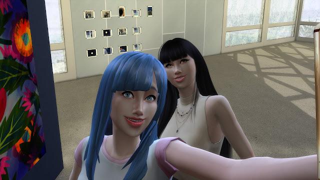 Sims 4 Miwa Kasumi and bigeyedkitteh