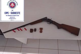 Cipe Sudoeste apreende arma de fogo na BR-030 em Caetité