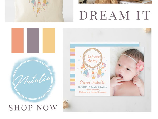 Designer Spotlight : Natalia from Sweet Creations - Dreamcatcher Baby Shower, Nursery Decor, & Birthday Collection