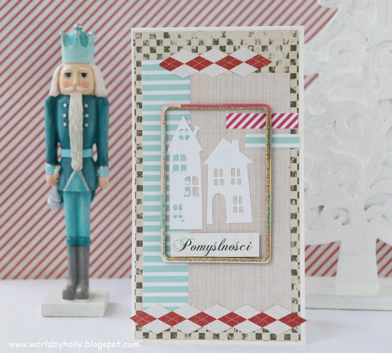 zimowa dekoracja, bajkowa dekoracja, kartka na dzień babci i Dziadka, kartka dla zimowego solenizanta, jubilata, zimowa kartka