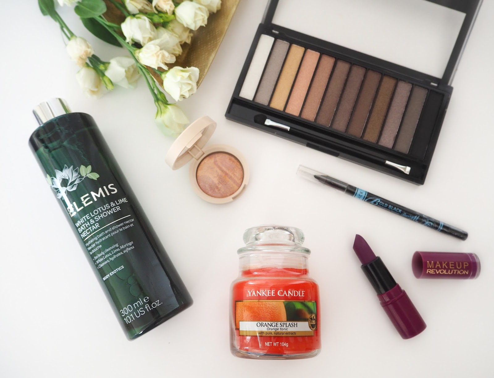Spring Giveaway Bundle, Katie Kirk Loves, Competition, Prize, Sweepstakes, Giveaway, Beauty, Elemis, Make Up Revolution, Laura Geller Make Up, Yankee Candles, Candles, Barry M