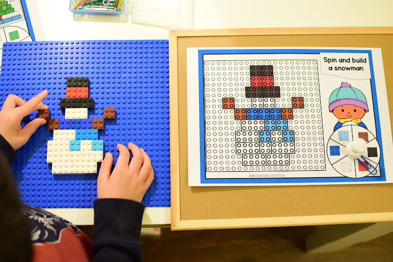 Winter Themed LEGO Building Patterns