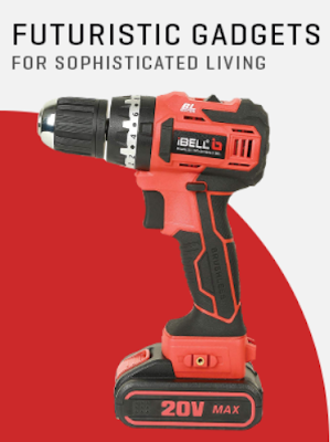 iBELL BM18-60 20V Brushless Impact Driver Drill One For Drilling, Hammering & Tigntning a Nut