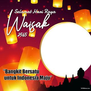 Twibbon Hari Raya Waisak 2021 PNG