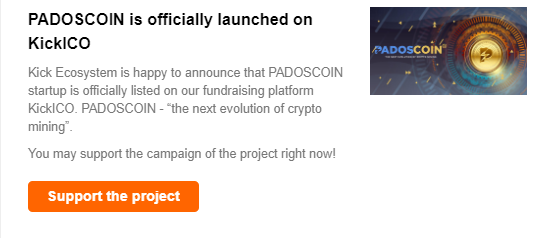 PADOSCOIN is officially launched on KickICO