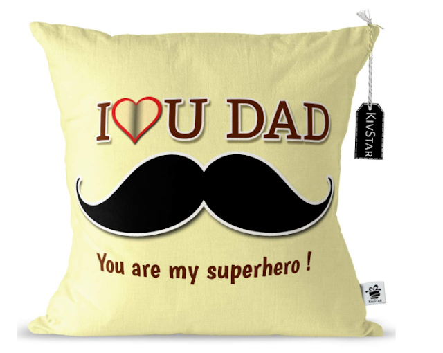 I love you, Dad, you are my superhero' cushions