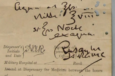 Prescription for Rudolf Hess (courtesy of Royal Armouries)