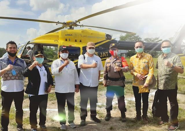 Menko Perekonomian Meninjau Desa Belanti Siam Yang Dicanangkan Sebagai Salah Satu Lumbung Padi Nasional