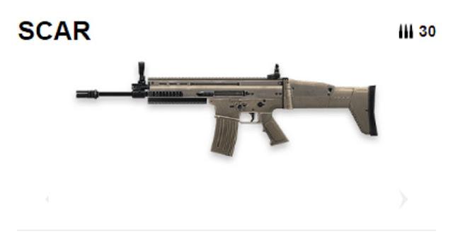 Senjata Scar Free Fire (FF)