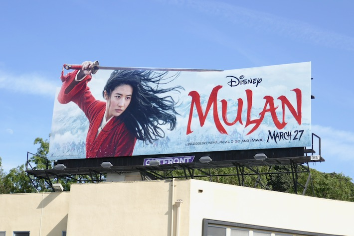 Mulan extension cut-out billboard