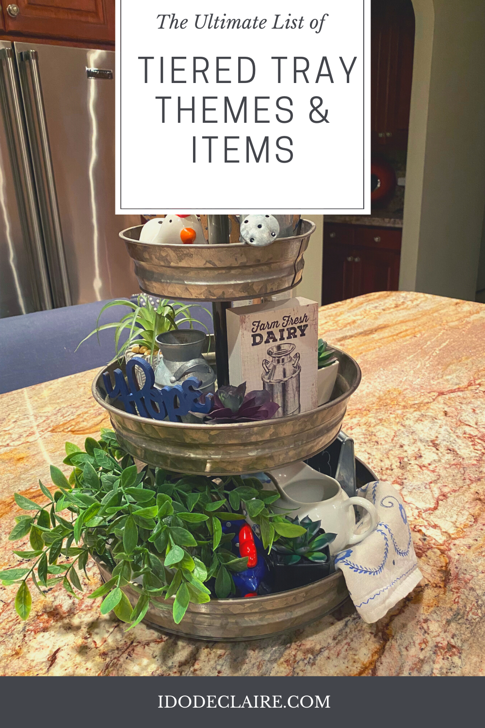The Ultimate List of Tiered Tray Themes & Items!