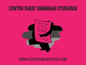 Gambar untuk Contoh Surat Undangan Syukuran Rumah Baru dan Wisuda