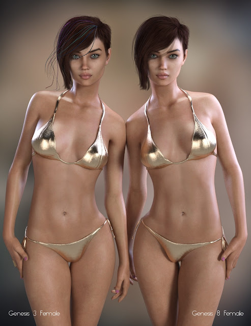 P3D Danny for Genesis 3 and 8 Female
