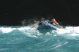 Rafting in Aysen, Chilean Patagonia.