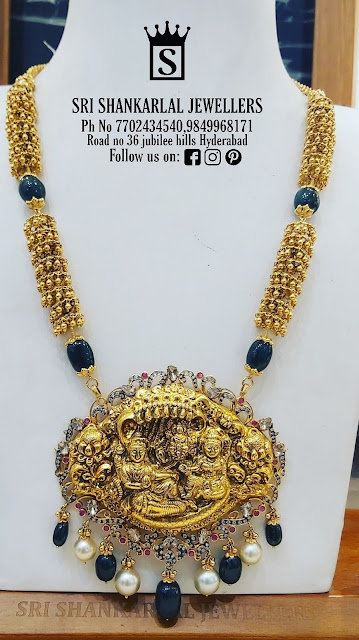Vishnu Pendant Swirls Long Chain