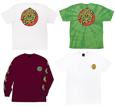 Teenage Mutant Ninja Turtles x Santa Cruz Skateboards Limited Edition Apparel Capsule Collection