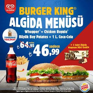 burger king menü fiyat kampanya paket servis sipariş 2021 algida