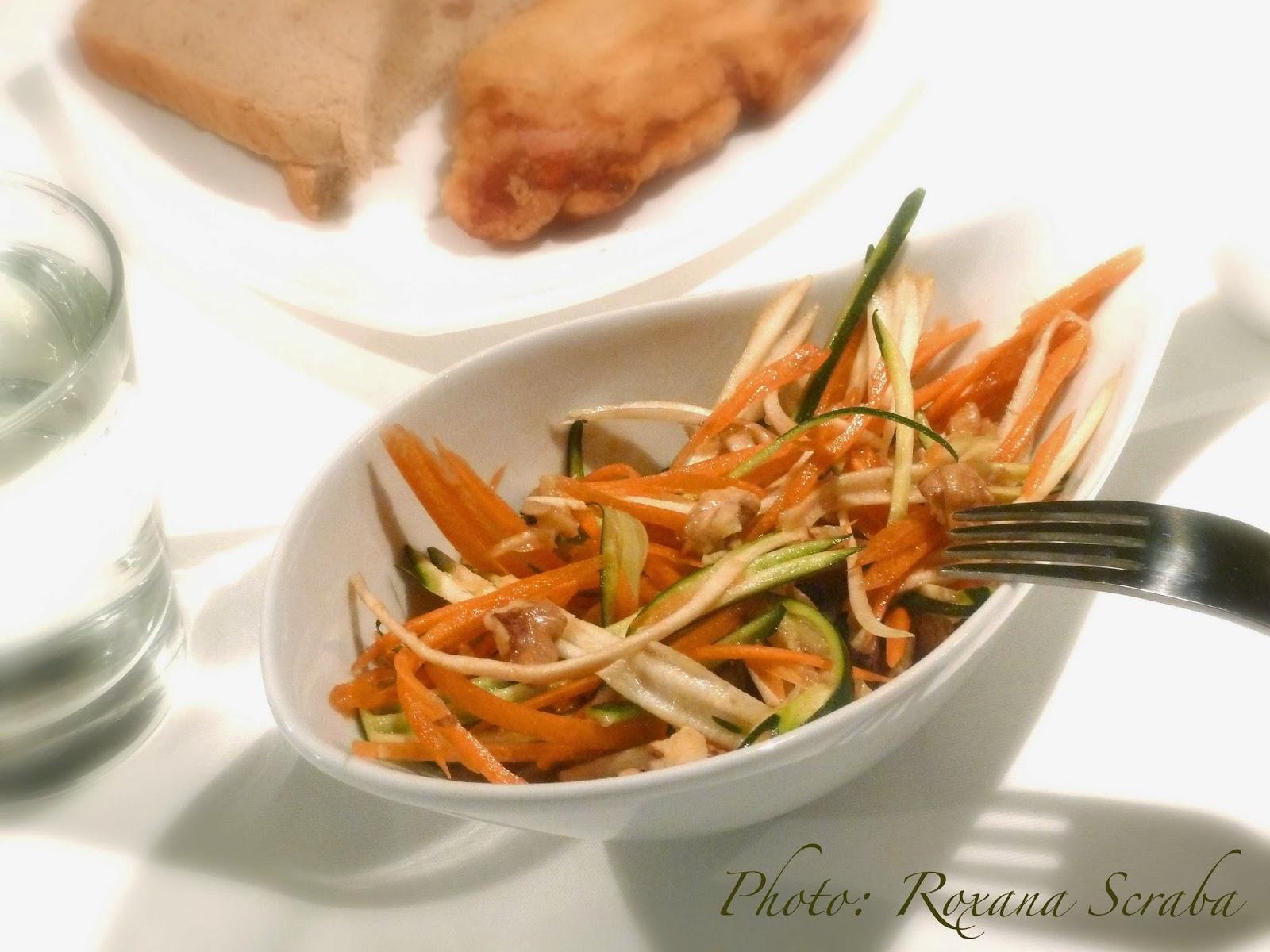 Salata de morcov, pastarnac si dovlecel