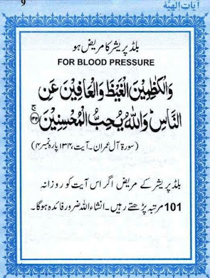 Dua for the treatment of high blood pressure