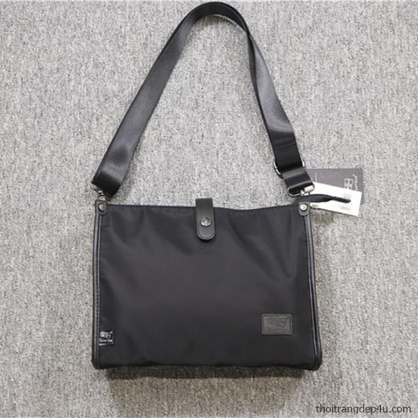 Túi deo chéo vải dù chống nước thời trang DNM024D (Đen)