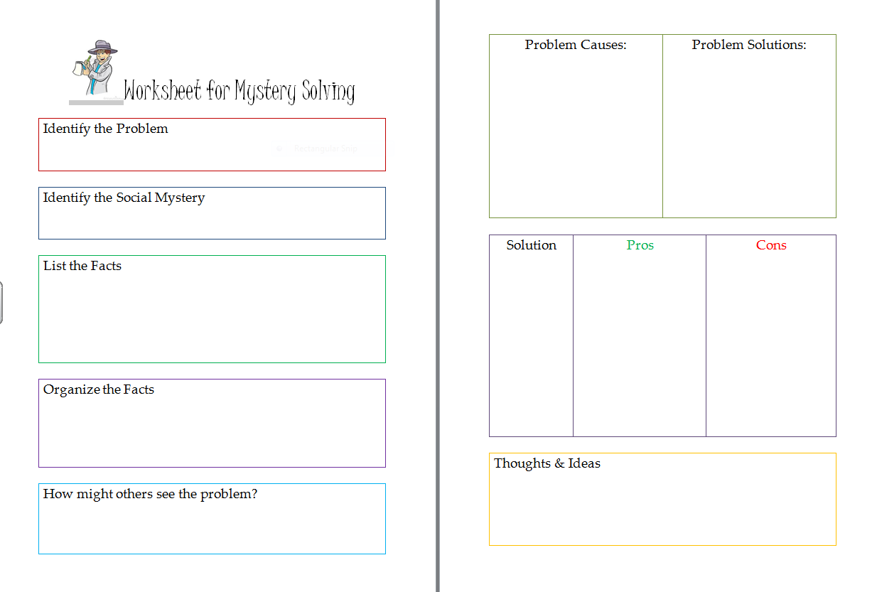Social Behavior Mapping Worksheet