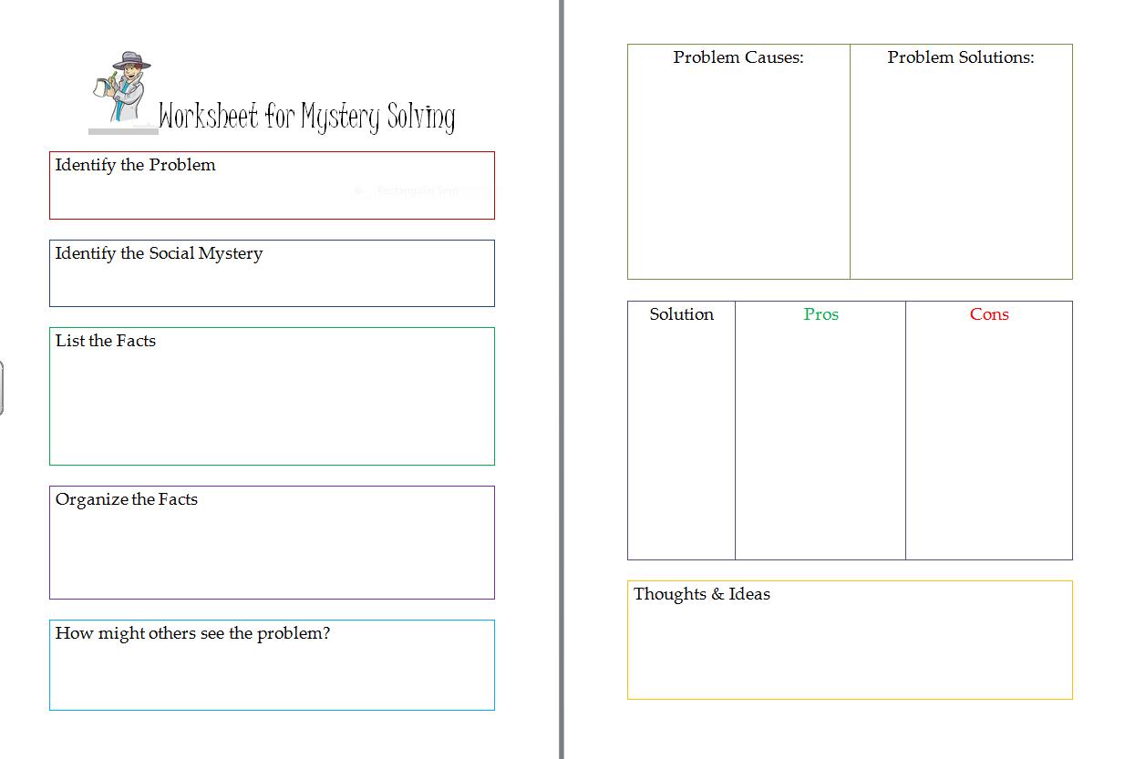 Social Behavior Mapping Worksheet