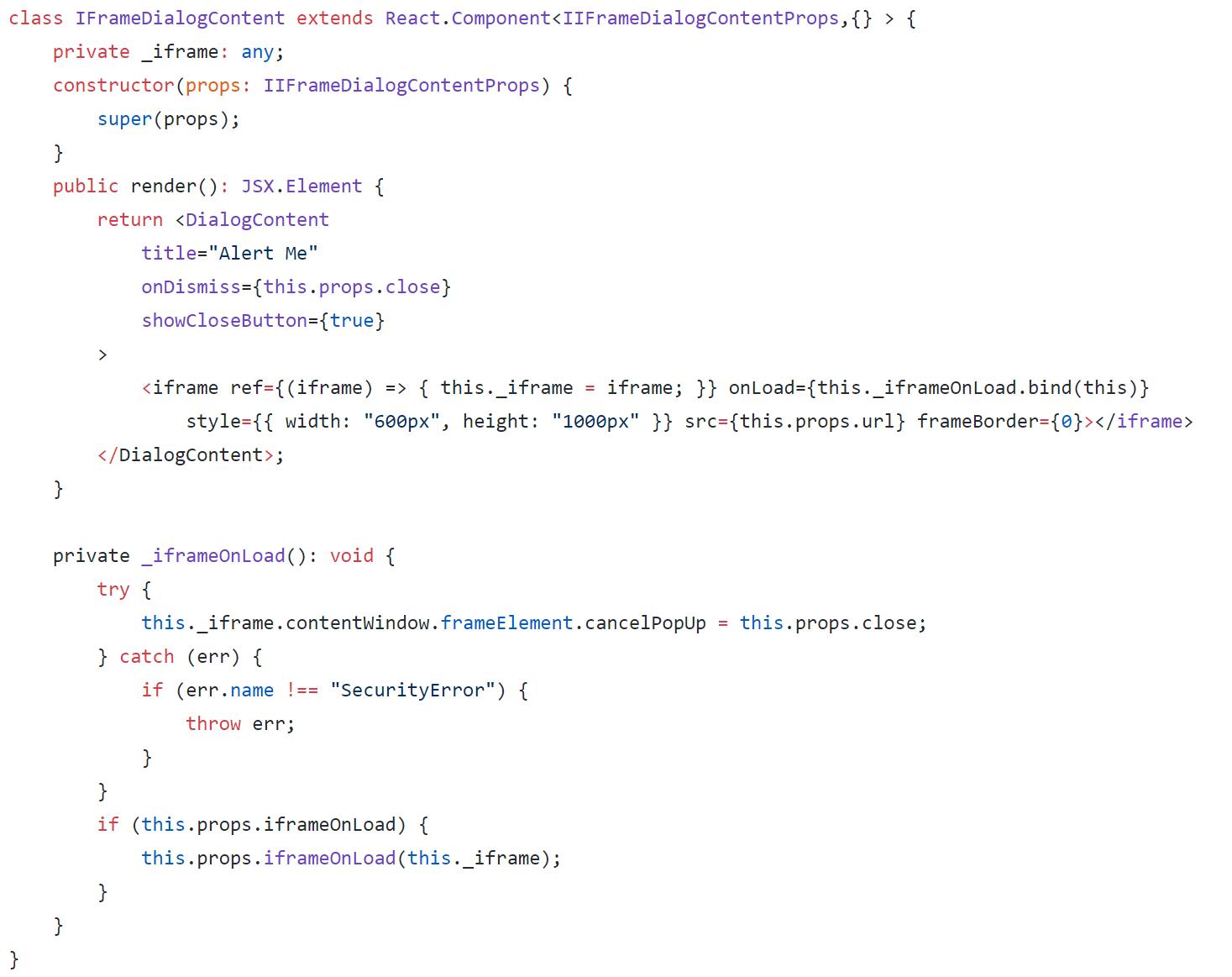 SPFx: Modal Dialog, show classic SharePoint forms