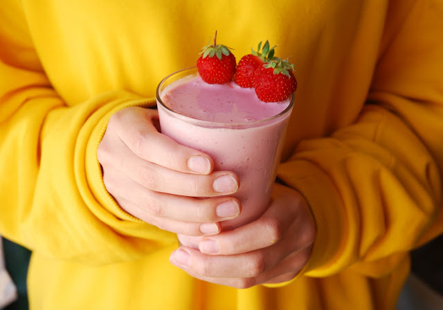 Milkshake fraise léger