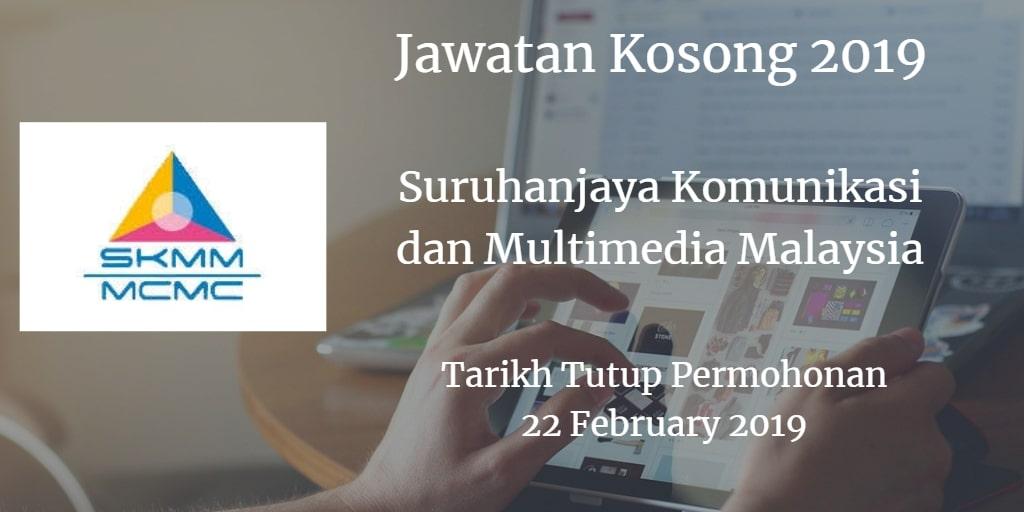 Jawatan Kosong 2019 SKMM 22 February 2019