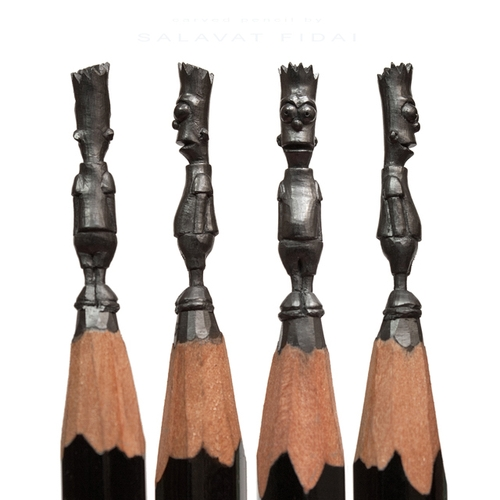 06-Bart-Simpson-Salavat-Fidai-Салават-Фидаи-Architectural-Movie-Pencil-Sculpture-Carving-www-designstack-co