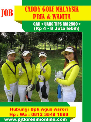 Lowongan Caddy Golf Malaysia (Pria dan Wanita) 2020