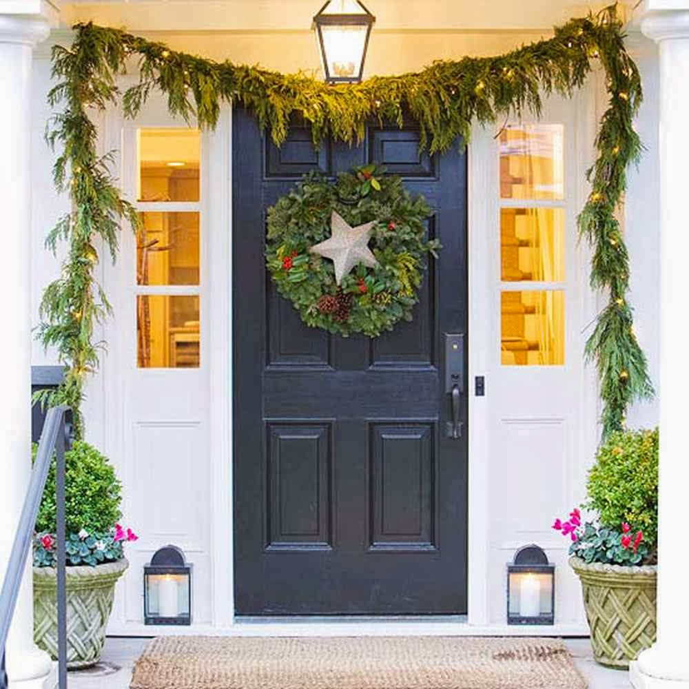 Make homemade outdoor christmas decorations stylish home for Nursing home christmas door decorations
