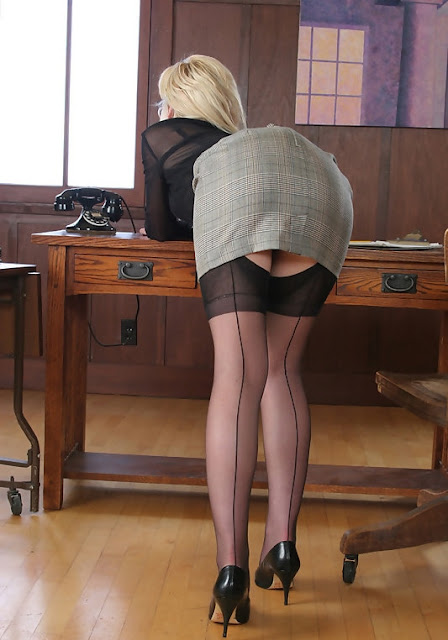 office porn bending over