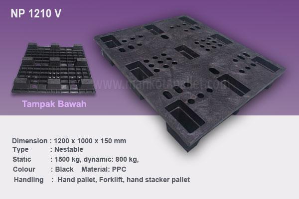 Pallet Plastik Nestable 1210 V Ukuran 1200x1000x150 mm