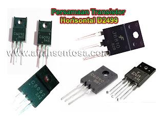 Persamaan Transistor Horisontal D2499