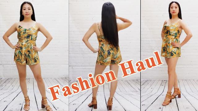 Asian Model in Spaghetti Strap Romper, Fashion Haul, Studio Edition. Fashion Showcase (RMNOnline.net)