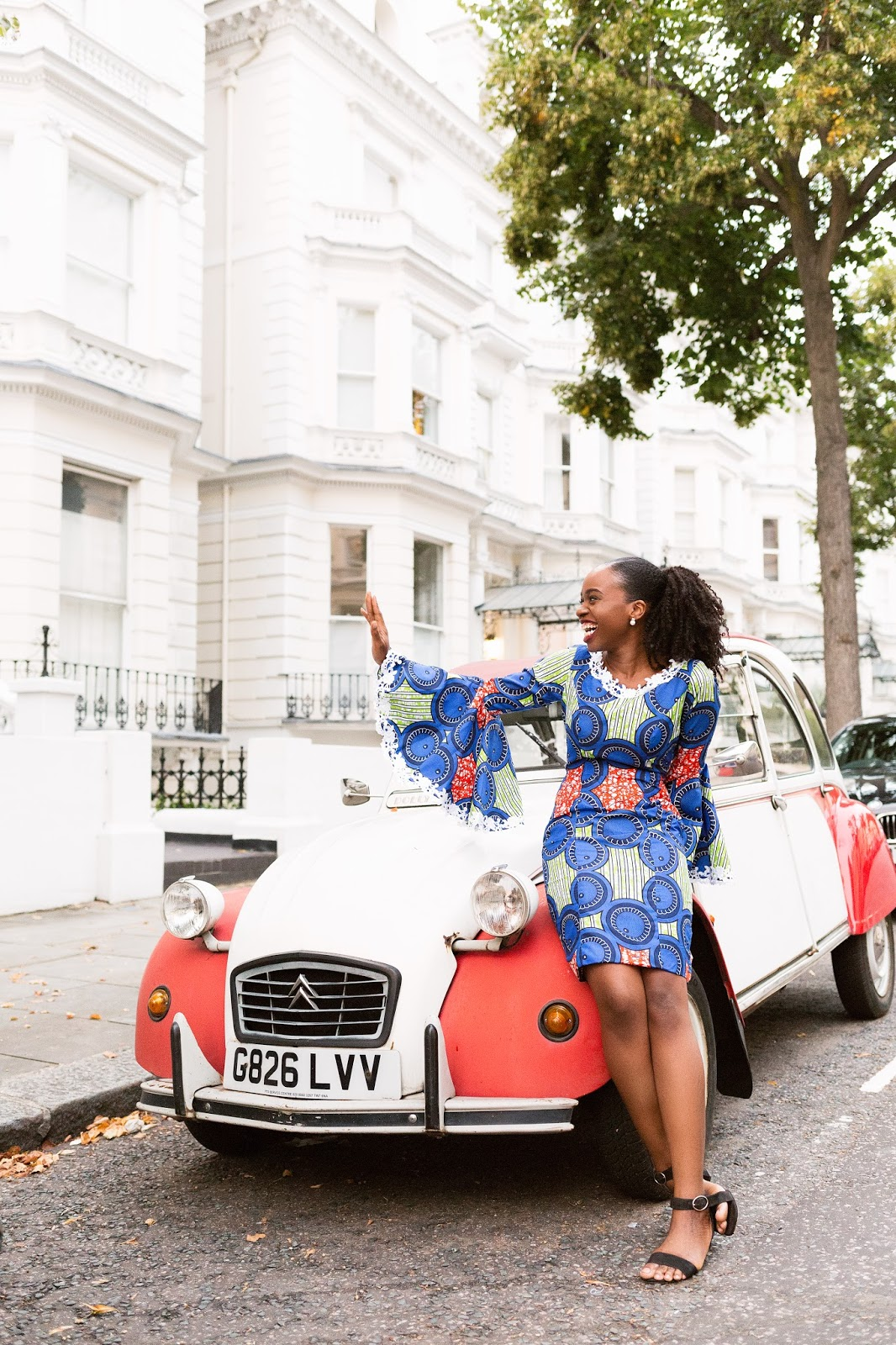 Black British Fashion Blogger Citroen 2cv6 dolly car
