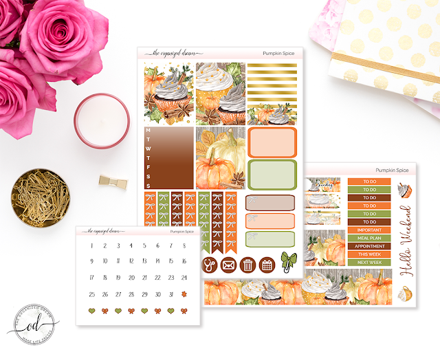 Fall planner mini planner sticker kits.  #plannergirl #planning #etsyshop