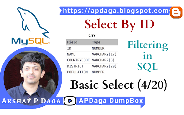 HackerRank: [Basic Select - 4/20] Select By ID | Filtering in SQL