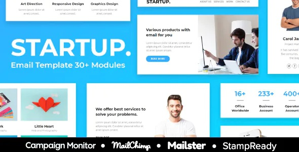 Best 30+ Modules Responsive Email Template