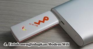 Manfaat Lain Powerbank Untuk menghidupkan Modem Wifi